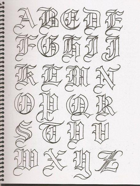 750 Jpg 455 604 Letras Goticas Abecedario Letras Goticas Cursivas Tipos De Letras Abecedario