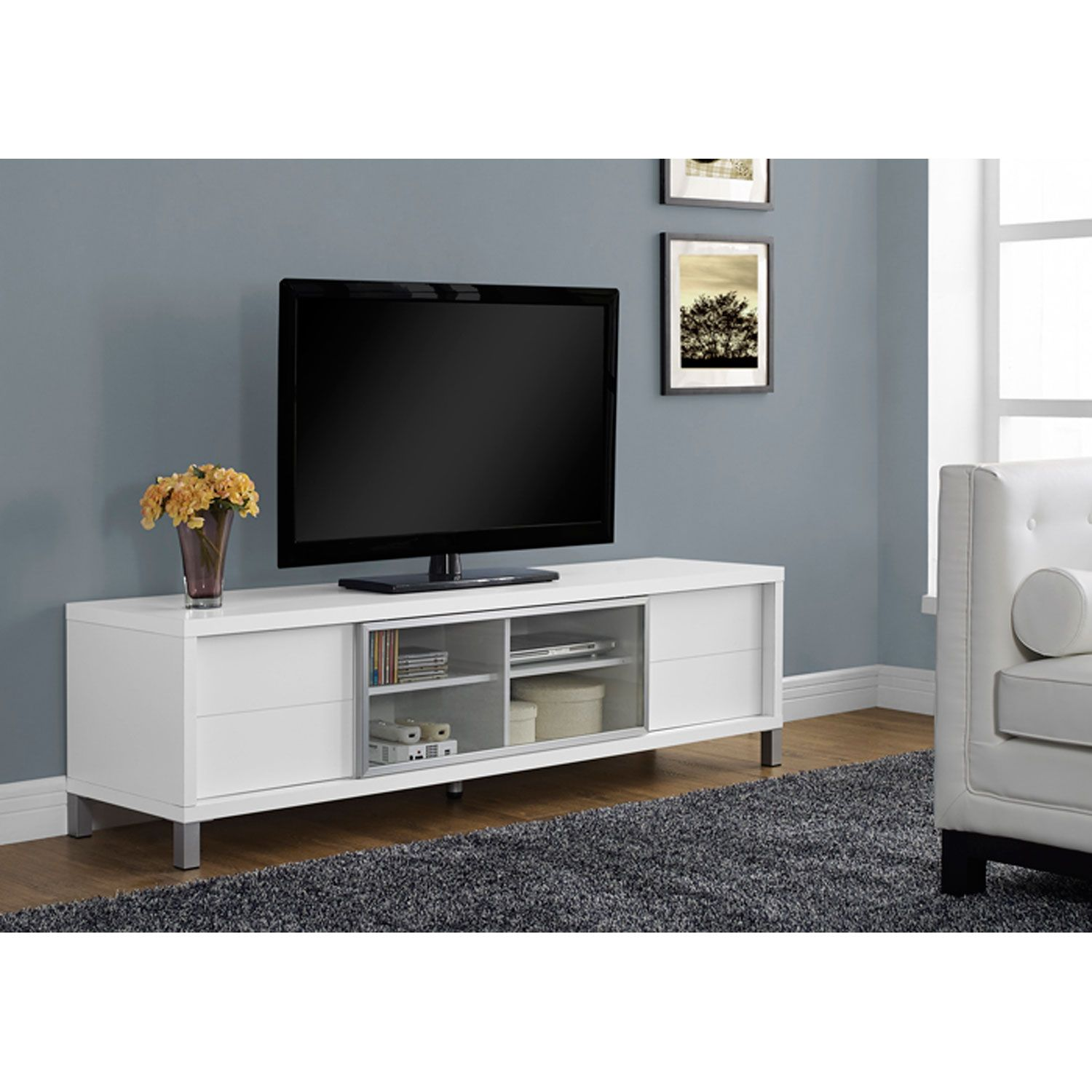 Genial White 70 Inch Tv Console Monarch Specialties Tv Cabinets Tv Stands U0026  Cabinets Home Enterta