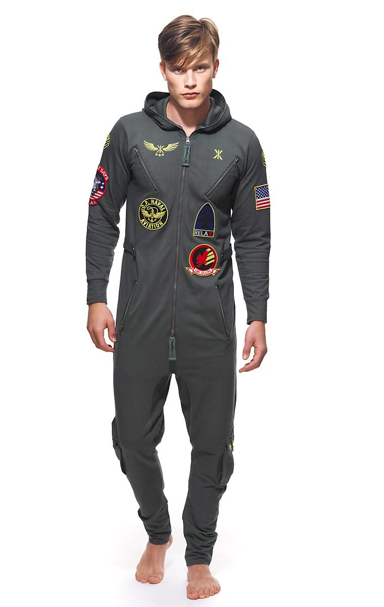 2de567defdc3 These onesies are incredible lol OnePiece Aviator Onesie Jungle Green
