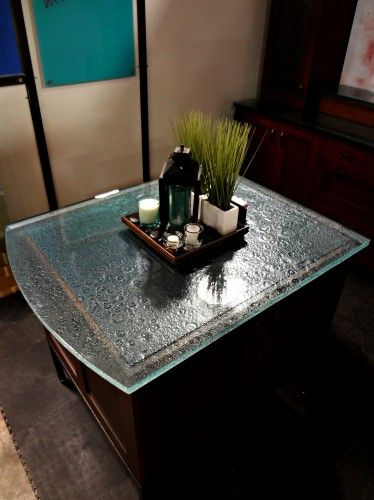 Cast Glass Island top by Studio L. Glassworks