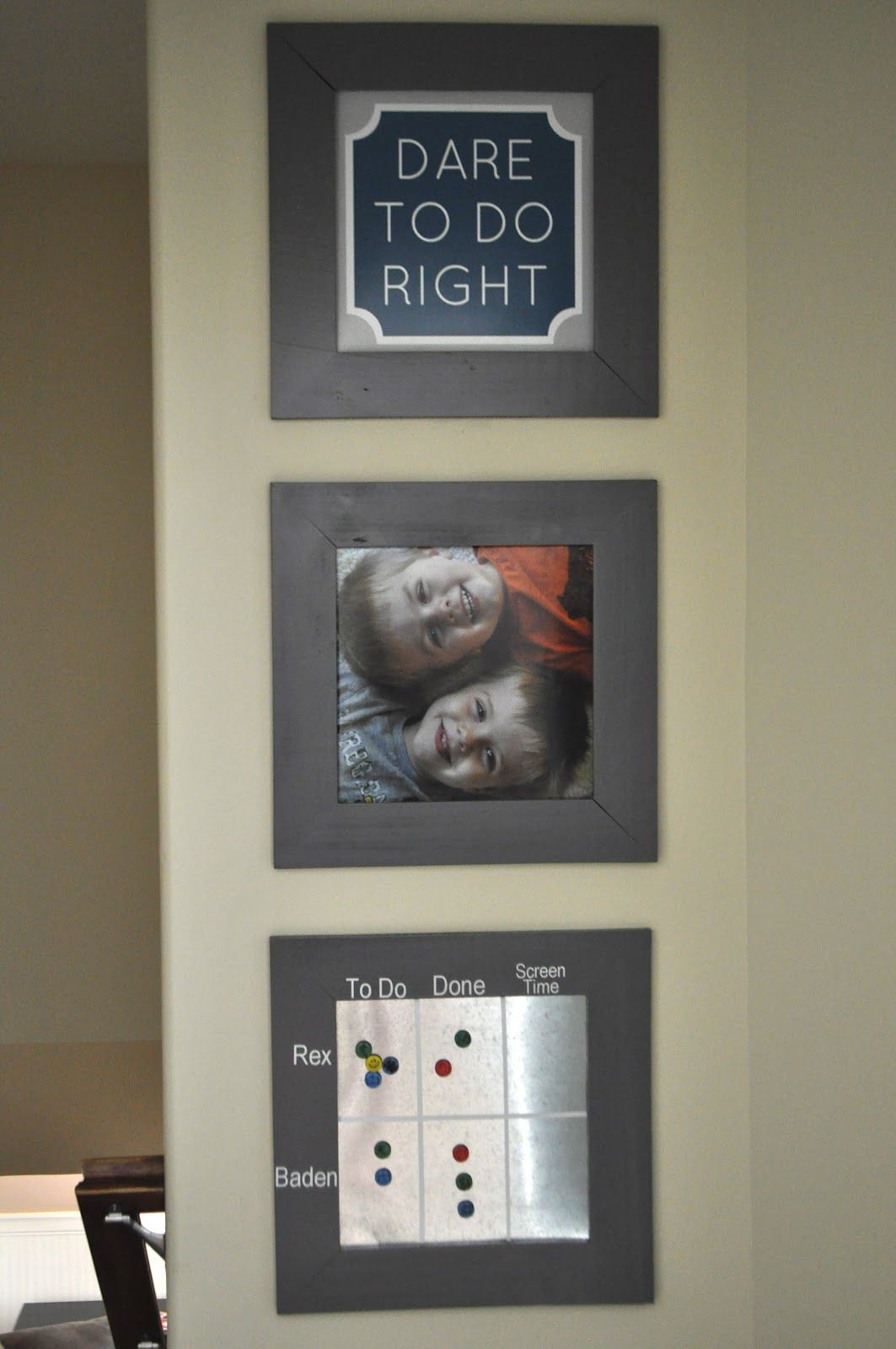 """Thinking something similar in my hallway with three boards being """"essential, necessary, and nice-to-do""""."""