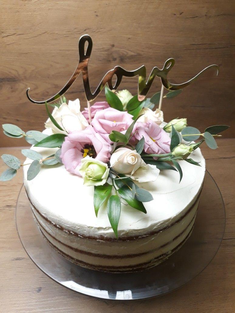 Tort Rocznica Slubu Kwiaty Desserts Cake Fika