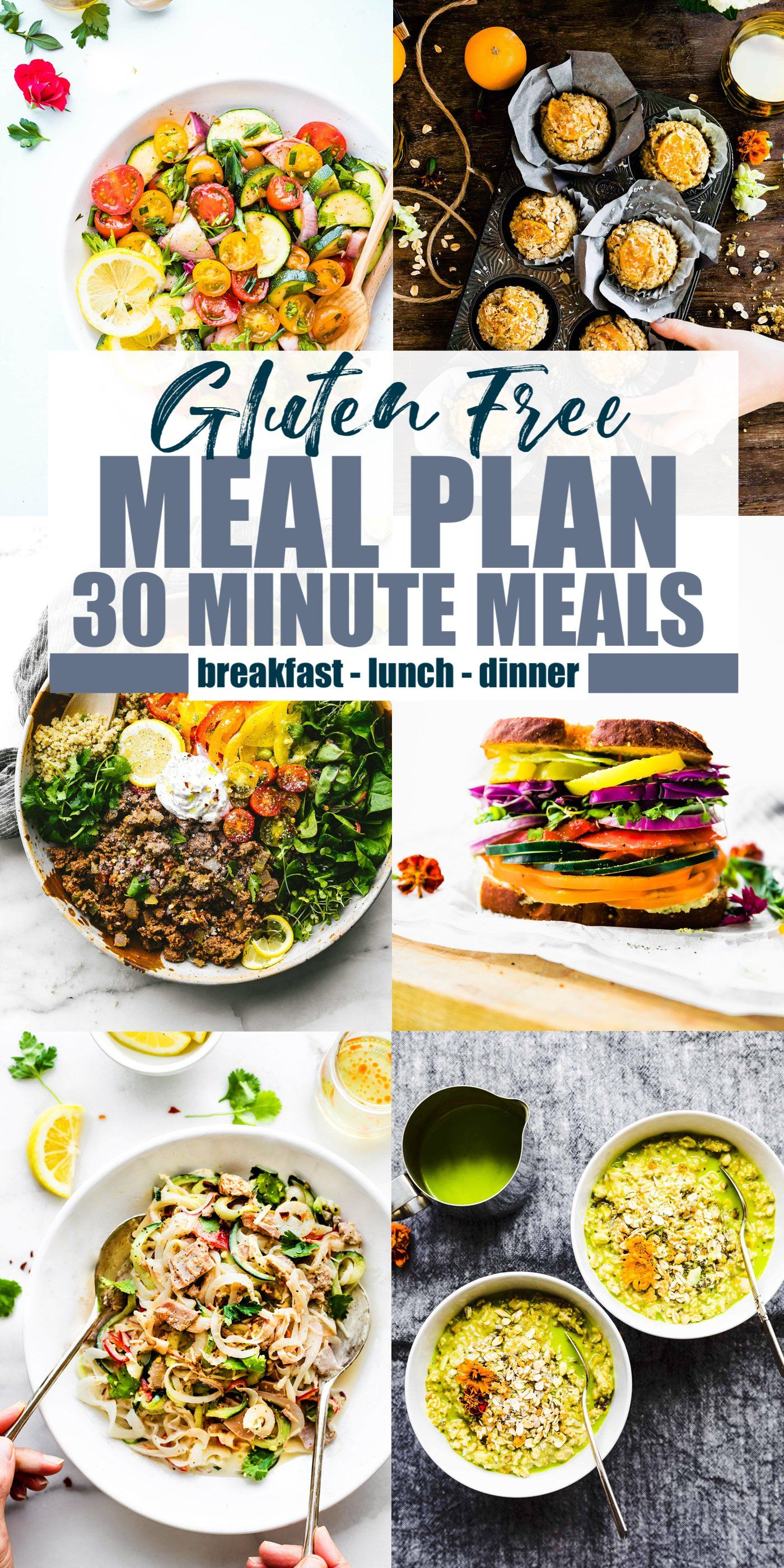 Gluten Free Meal Plan with 30 Minute Meals (or Less!) images
