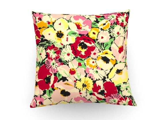 Retro floral print cushion cover, decorative pillow, retro floral cushion, vintage floral pillow, throw pillow, home decor, home accessories