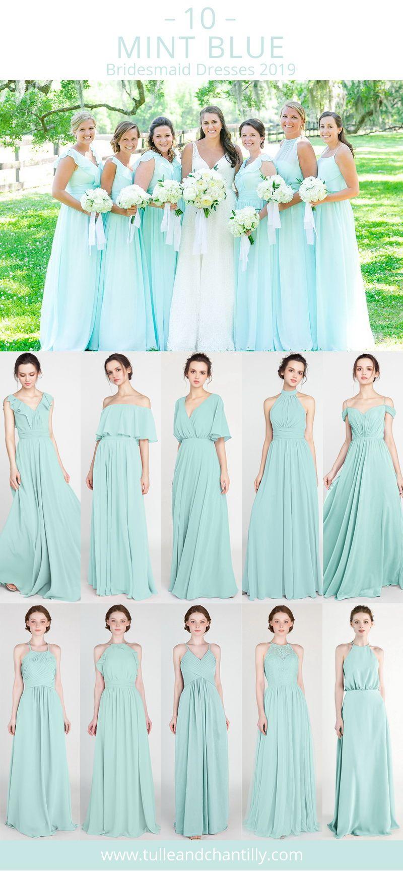 Top 10 Mint Blue Bridesmaid Dresses For Wedding Season 2019 Wedding Weddingin Mint Green Bridesmaid Dresses Mint Bridesmaid Dresses Summer Bridesmaid Dresses