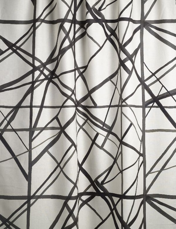 Kelly Wearstler for Groundworks at Lee Jofa, fabric pictured is Channels in Ebony/Ivory (GWF-3101-816)
