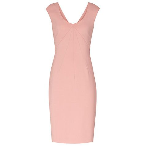 Buy Reiss Garbo Pleat Structured Dress, Coral Online at johnlewis.com