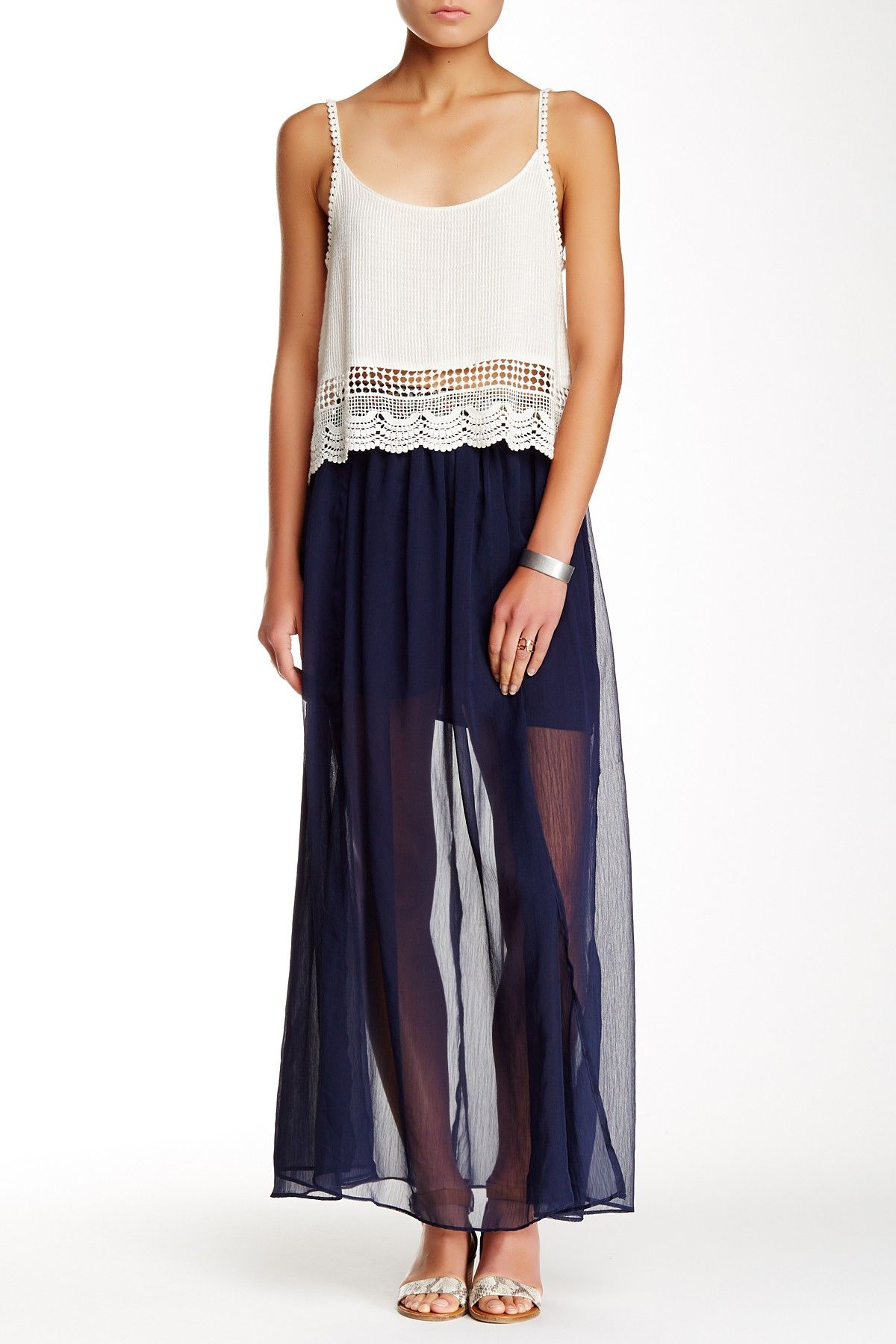 Blush noir embellished trim maxi skirt nordstrom free shipping