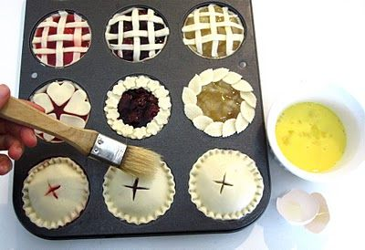 Miniature Pies in muffin pans.