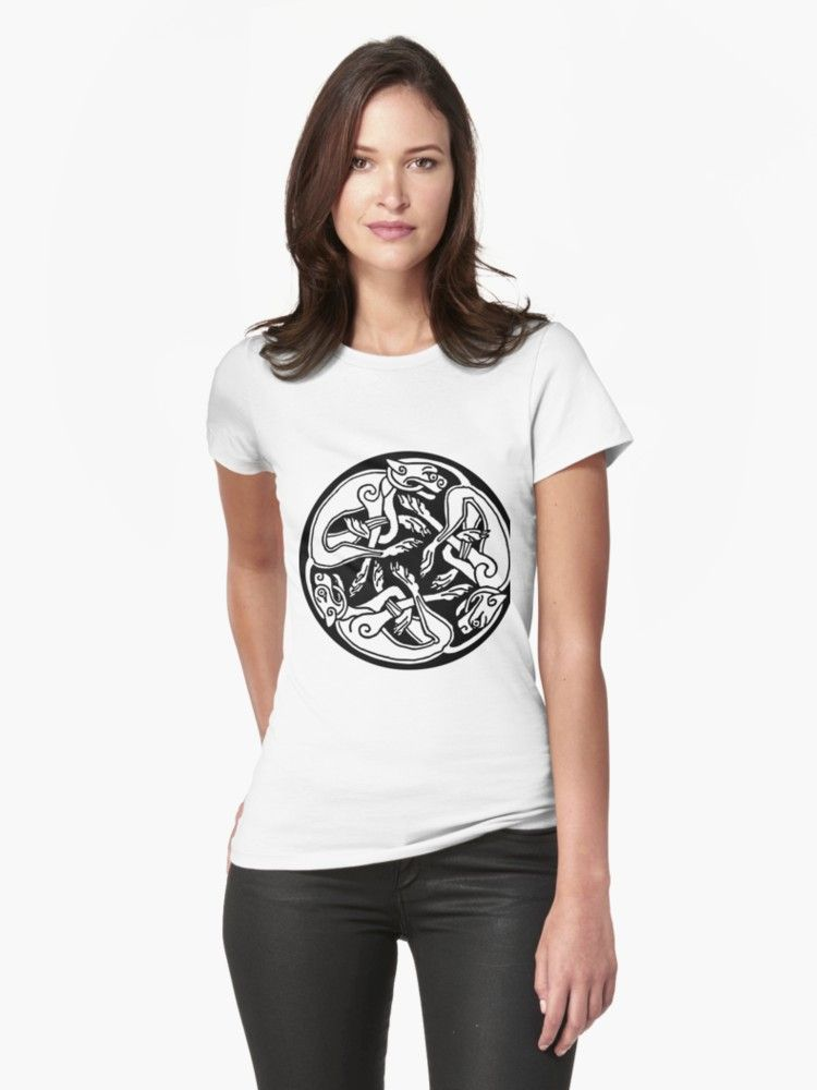 ce1d4e34926 Buy  Cat Celcit Symbol  Womens T-Shirt on black background.A perfect gift  for celtic fan. • Also buy this artwork on apparel