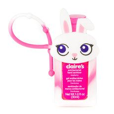 Bunny Rabbit Holder With Raspberry Anti Bacterial Hand Sanitizer