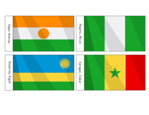 African Flags Printables For Kids Nigeria Free