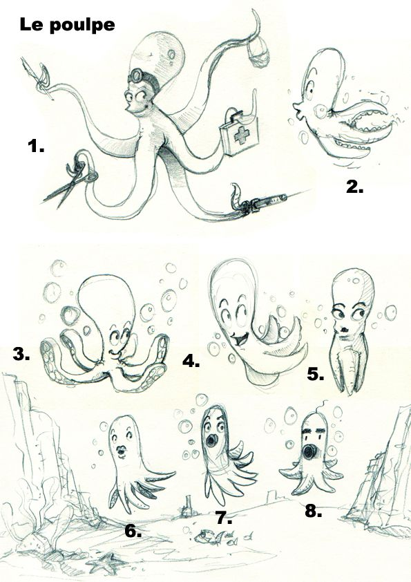 Octopus sketches