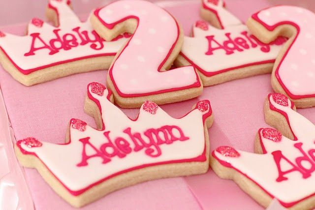 Princess party cookies