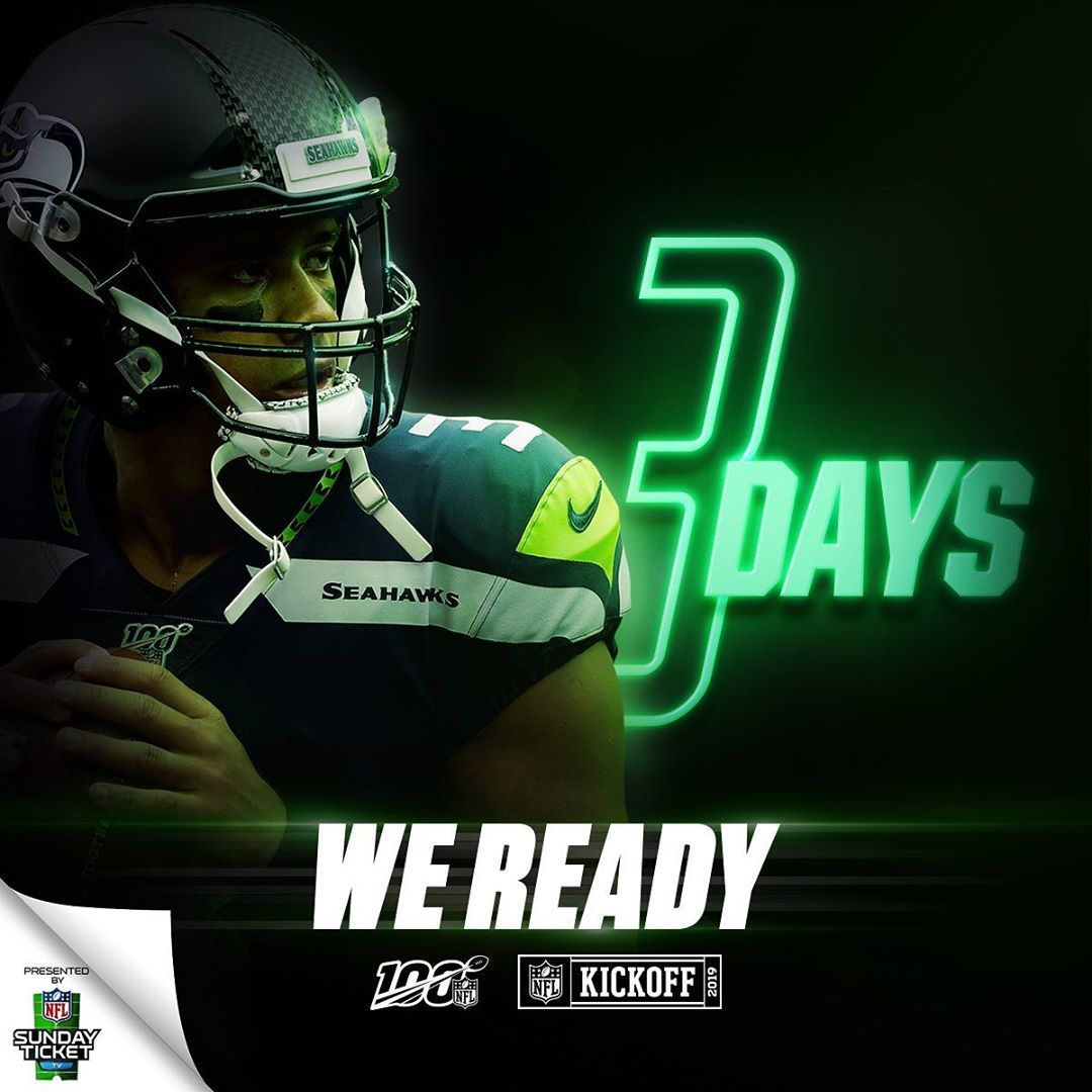Nfl Just Three Days To Go Nfl100 Nfl Nfl Tickets National