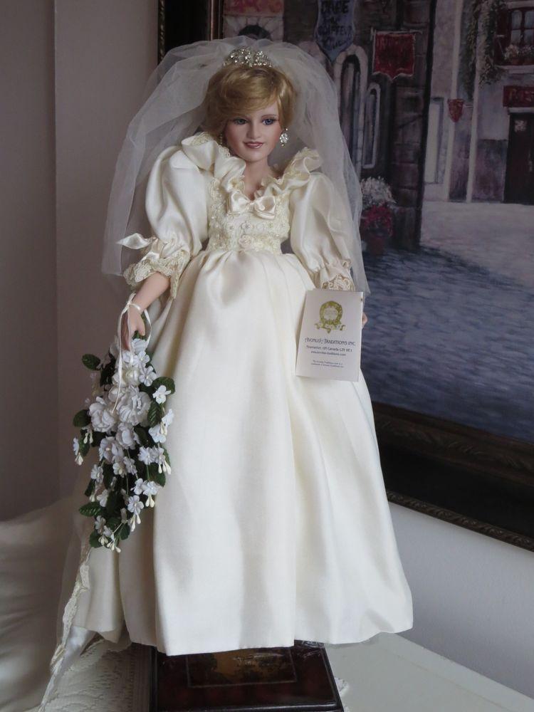 Princess Diana Porcelain Doll - WEDDING DRESS Bride - Avonlea ...