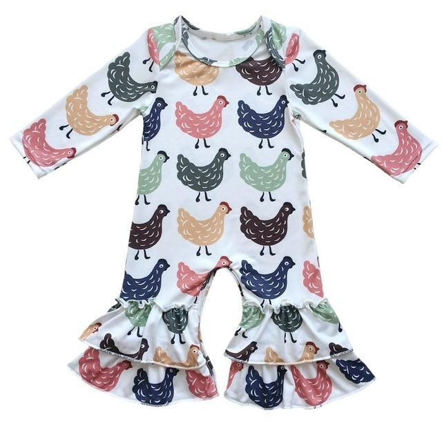 f53e4d3bea71 Boutique Infant Toddler Clothing Baby Icing Ruffled Leg Rompers ...