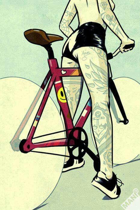 Pin en Dibujos de ciclismo
