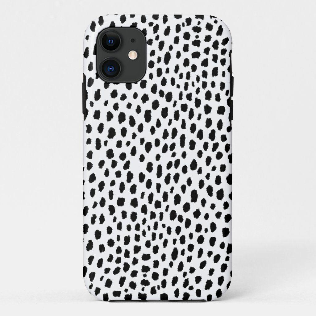 Dalmatian Spots (black/white) Phone Case