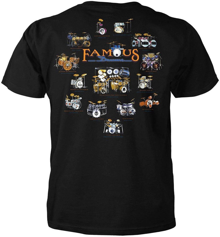 Famous drums tshirt music tees shirts music tshirts