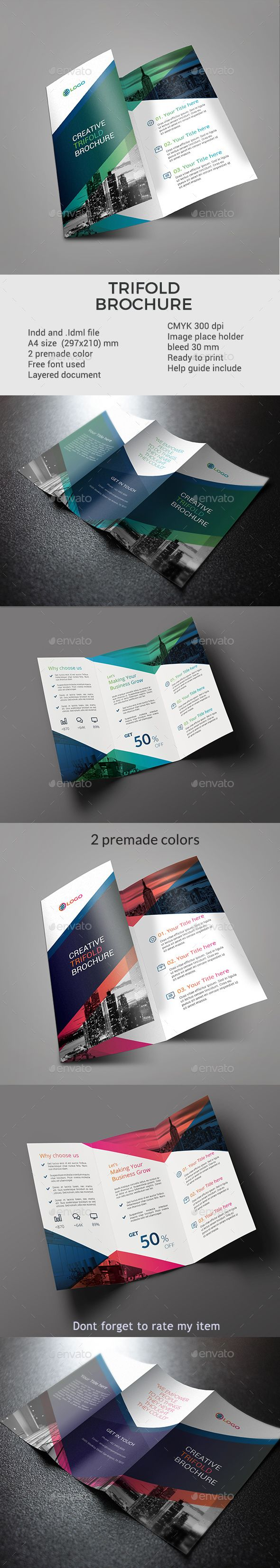 Trifold brochure template | Pinterest
