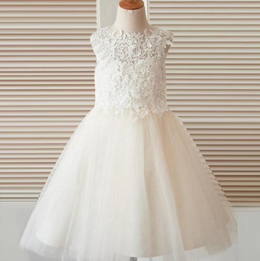 Open back top lace flower girl dresses for wedding best sale
