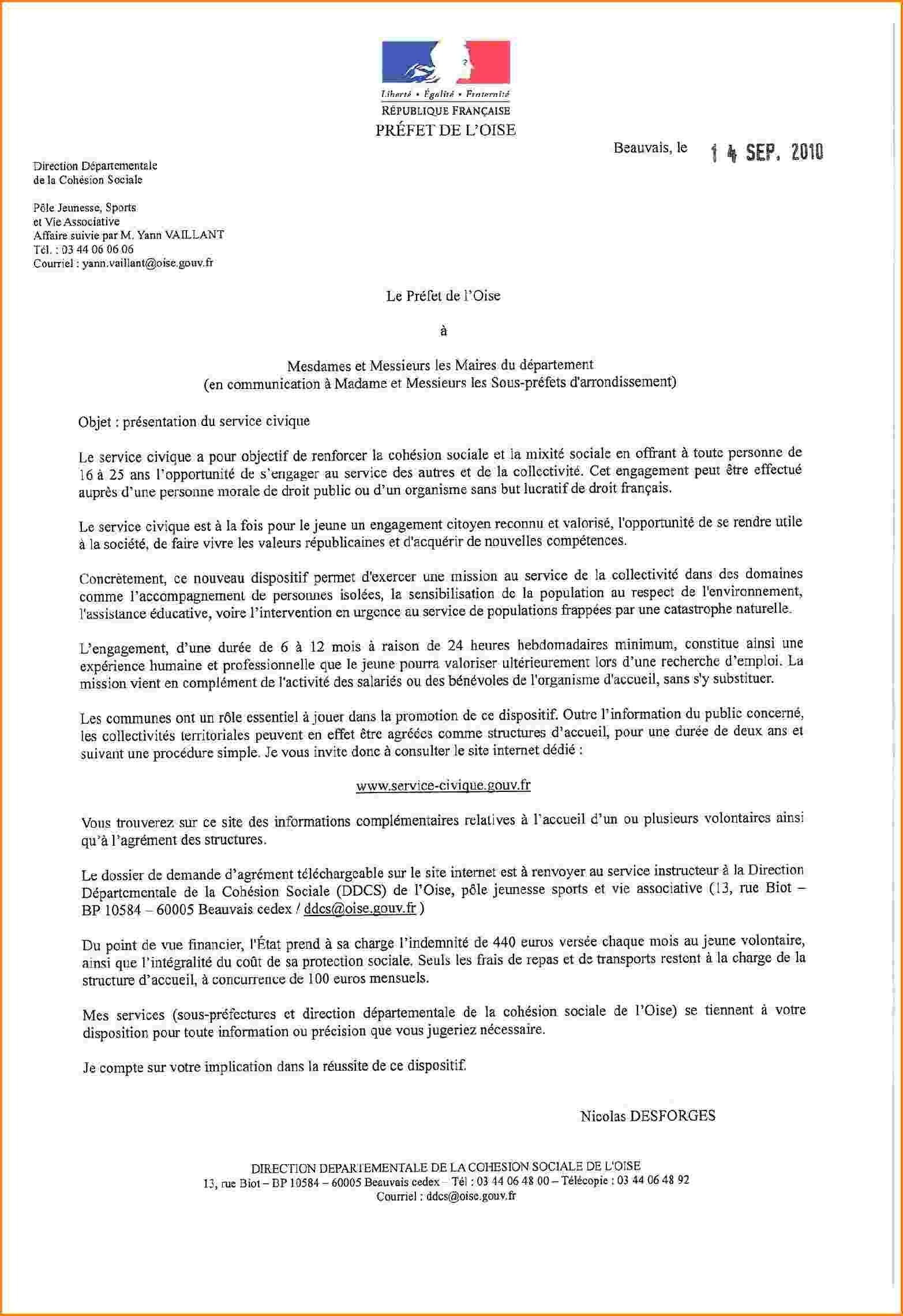 Modele De Lettre Administrative Civil 1 Modèle De Lettre