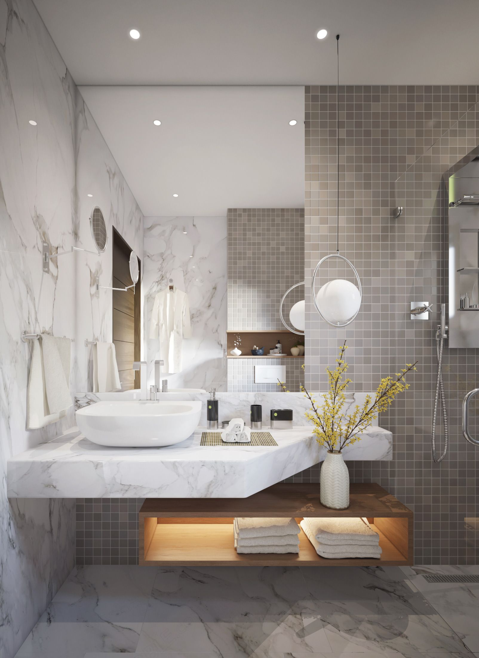 Soft And Cozy On Behance Modern Bathroom Design Contemporary Bathroom Designs Modern Bathroom