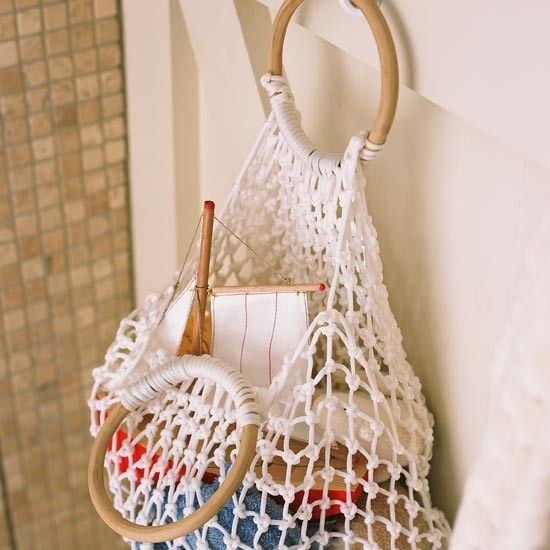 Family bathroom storage | Bathroom | PHOTO GALLERY | Ideal Home | Housetohome.co.uk (I totally love this idea for a small bathroom-Tammy)
