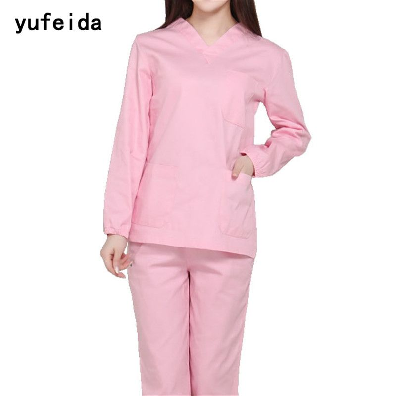 Scrub Sets Back To Search Resultsnovelty & Special Use New Hospital White Slim Medical Clothing Surgical Scrubs Medical Uniforms Women Laboratory Clothes Dentist Surgical Suit Sets And To Have A Long Life.