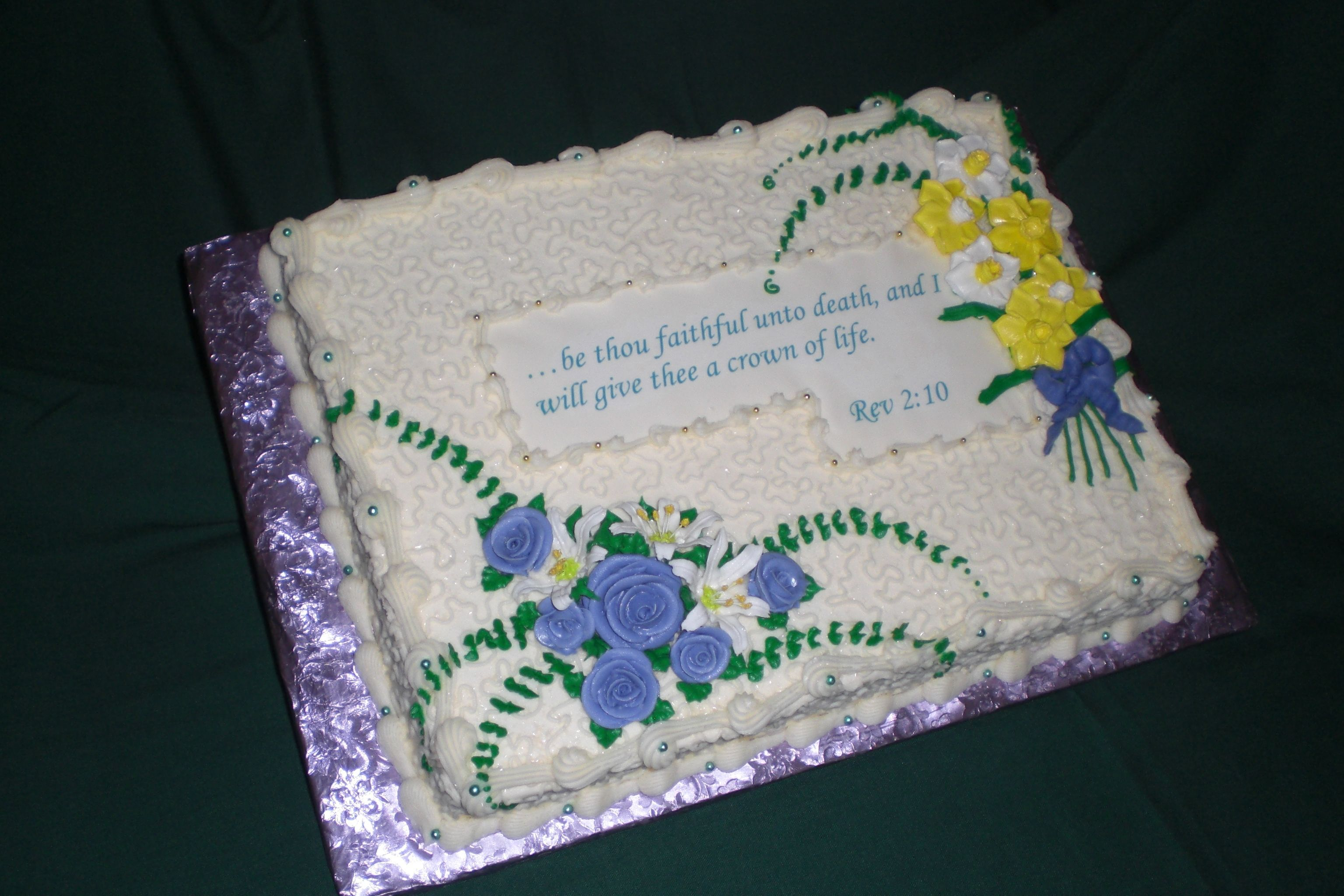 Cake For Funeral Reception Cake For A Funeral Reception