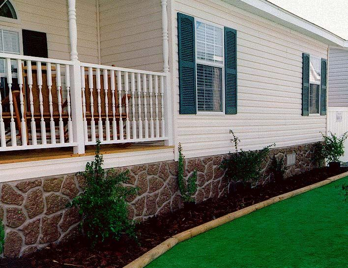 mobile home skirting ideas … | mobile home care | pinterest