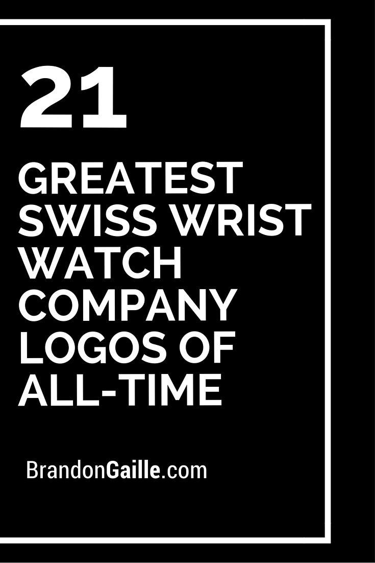 greatest swiss wrist watch company logos of alltime