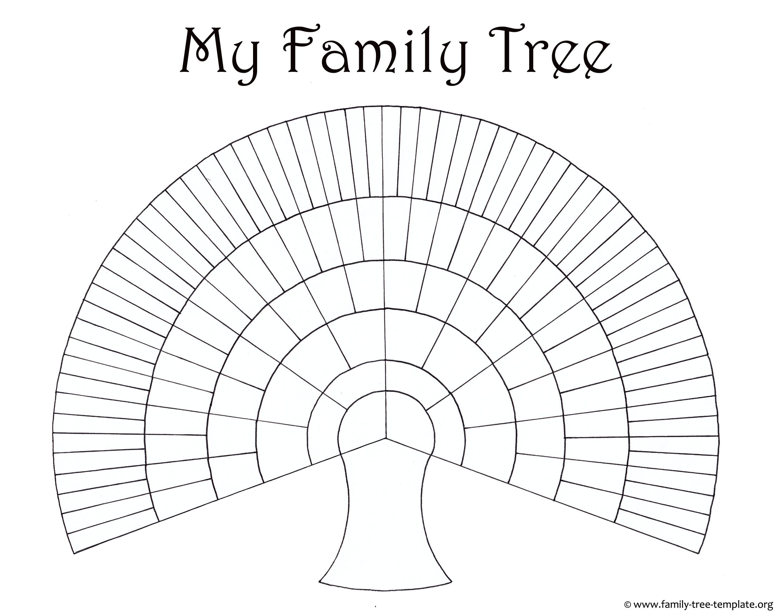 Huge family tree template for kids to print and color