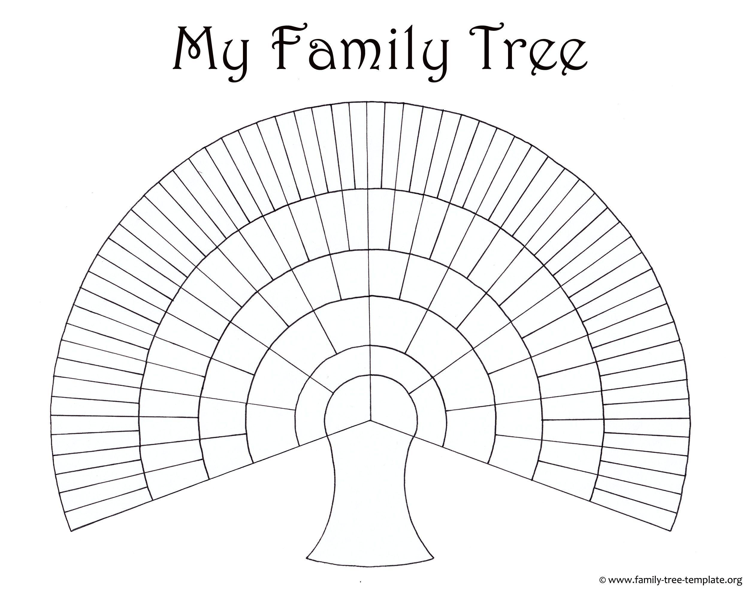 Blank Family Tree Template Genealogy Pinterest Family Trees