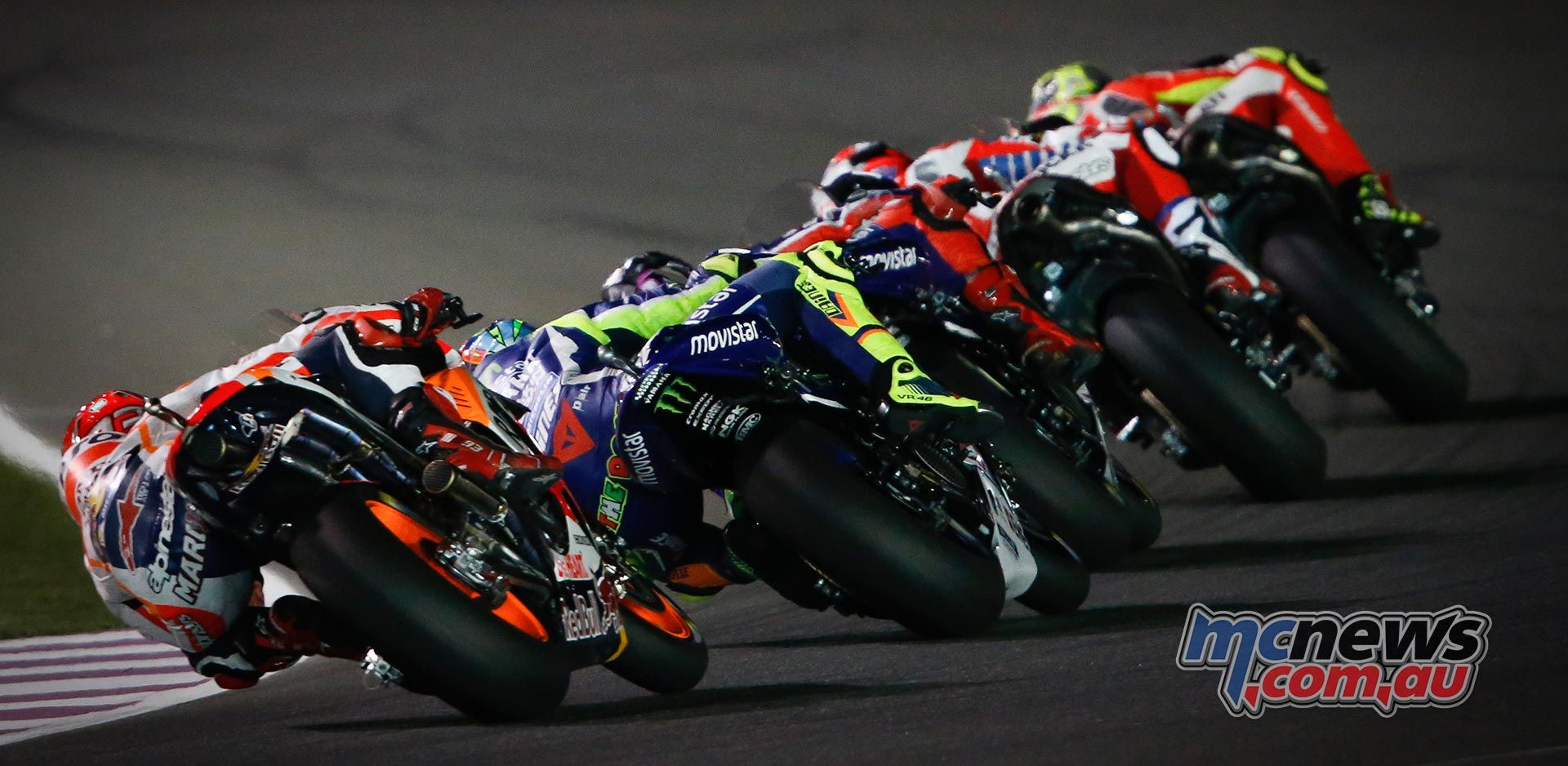 As The Lights Went Out It Was Lorenzo Who Roared Into First Grand Prix Starting Corner Ahead Of Andrea Iannone Ducati Team And Dani Pedrosa Repsol Honda