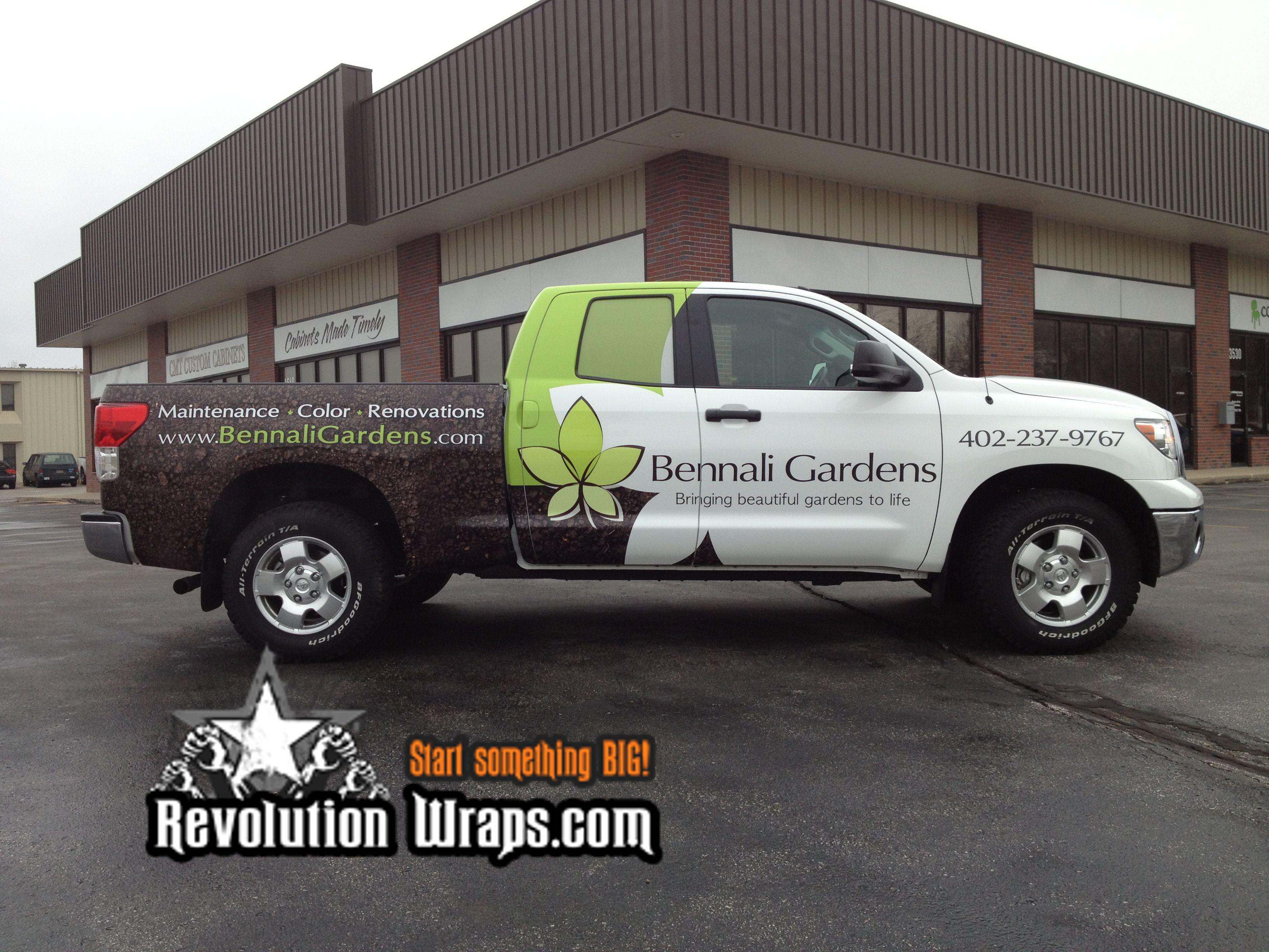 Bennali gardens toyota tundra vehicle wrap by revolution wraps