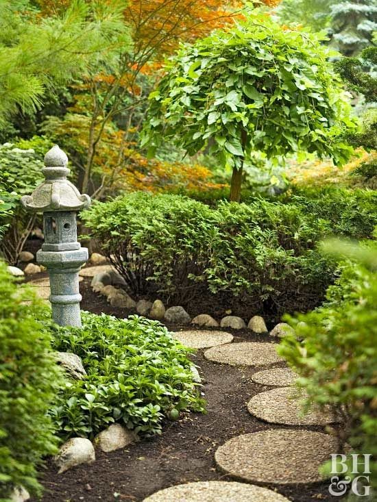 Japanese Gardens Combine The Basic Elements Of Plants, Water, And Rocks  With Simple,