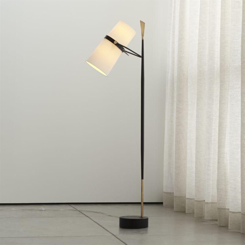 Riston Floor Lamp - Crate and Barrel   Lamp, Floor lamp ... on Riston Floor Lamp  id=91667