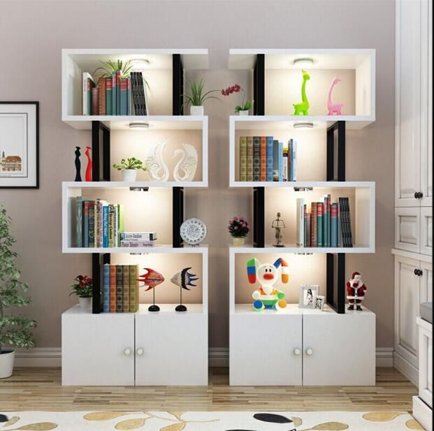 Simple Student Bookcase Bookshelf Shelf For Cosmetics Products Showcase Display Creative Shoe Rack Wood Shelves