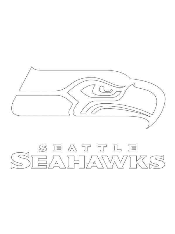printable seattle seahawks logo coloring pages kidskatcom