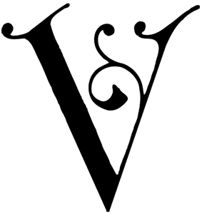 V Alphabet Lettering Typhography