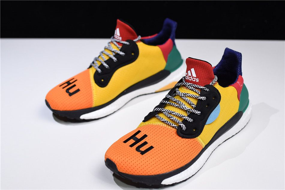 "fd07d166b540 Pharrell x adidas Solar Hu Glide ""Multicolor"" Supplier Colour Bold  Gold Bold Green BB8042"