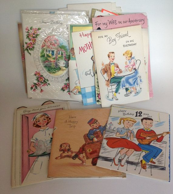 Vintage Unused Greeting Cards All Occasion Lot 19 By