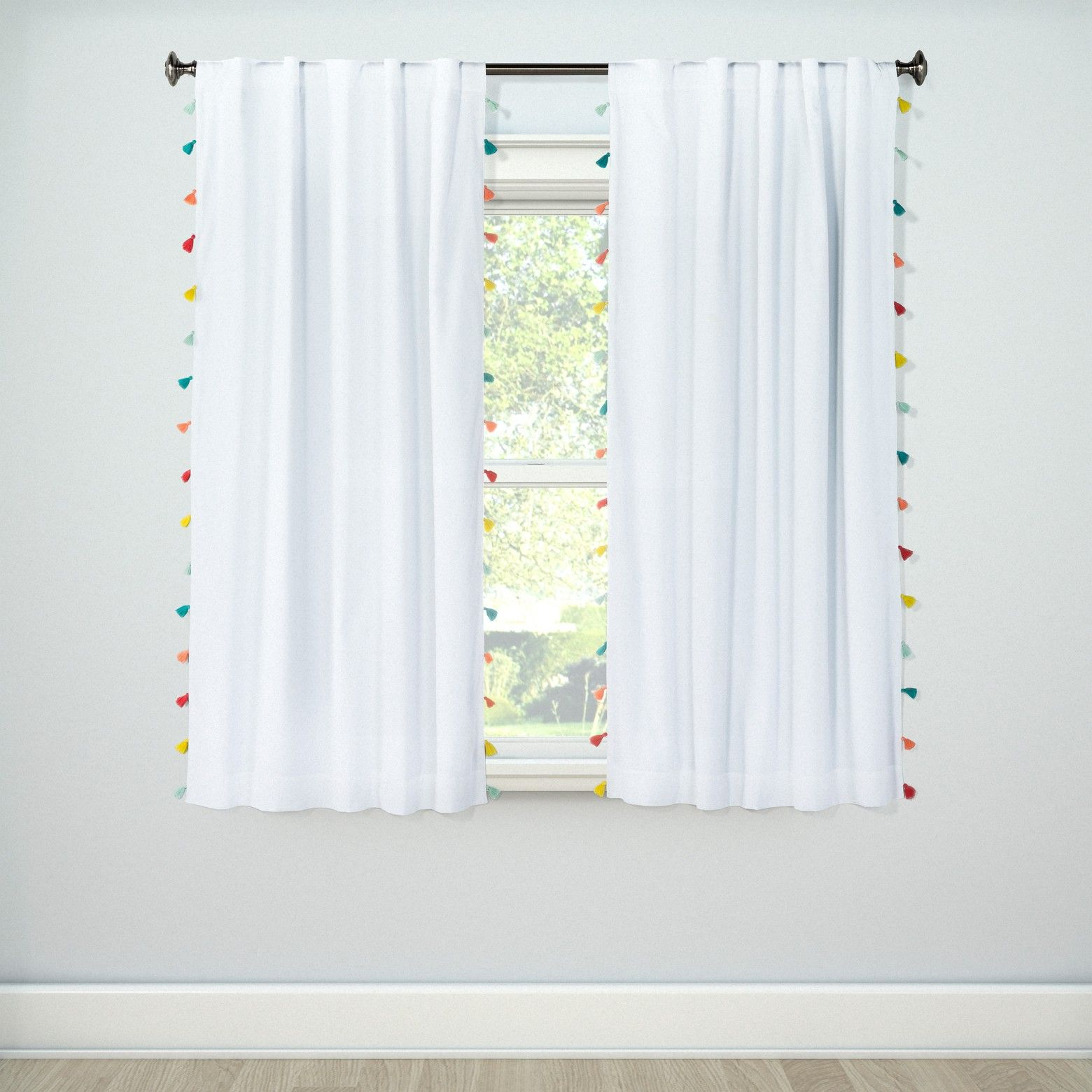Tassel Blackout Curtain Panel Pillowfort A Rod Decoracion