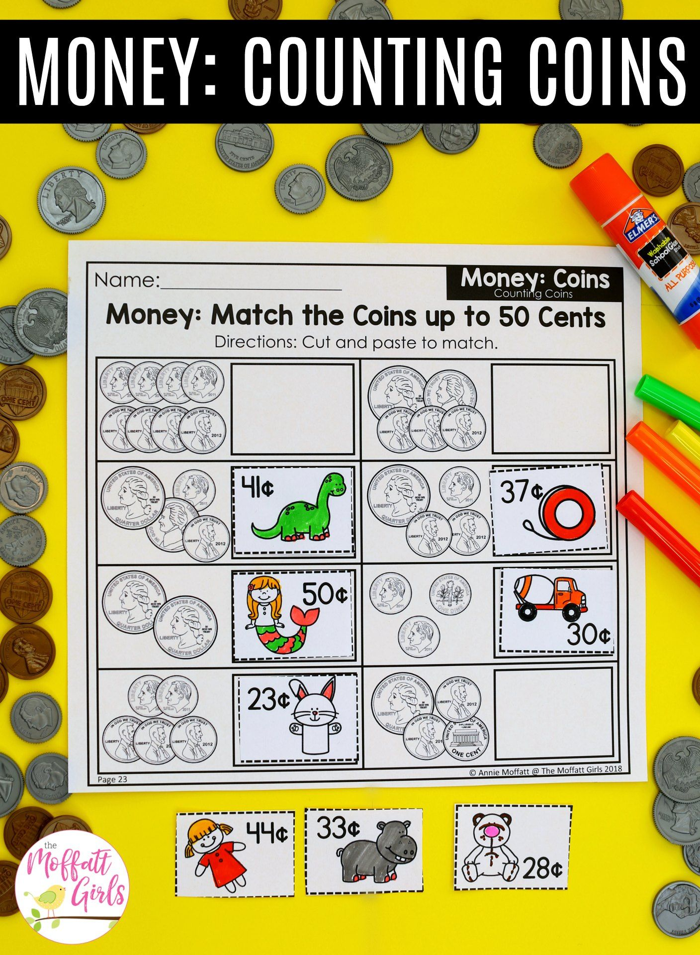 First Grade Math Money
