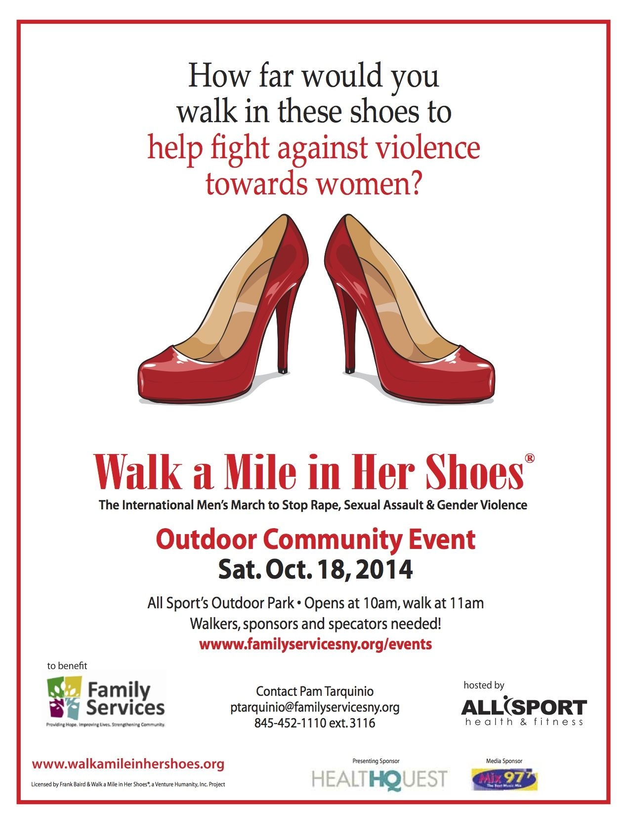 Walk A Mile in Her Shoes on Oct. 18th!