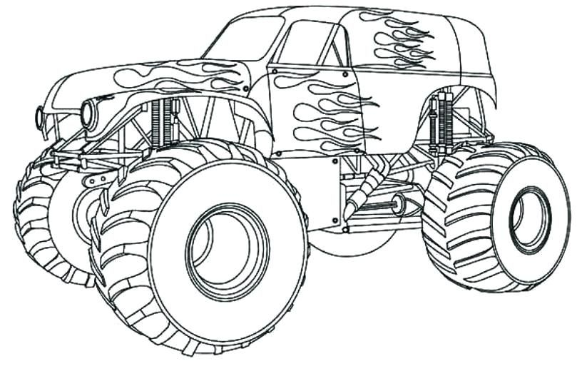 Monster Truck Coloring Pages Monster Truck Coloring Pages Cars