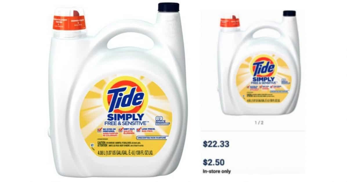 138 Oz Tide Laundry Detergent Only 2 50 Reg 22 33 Laundry