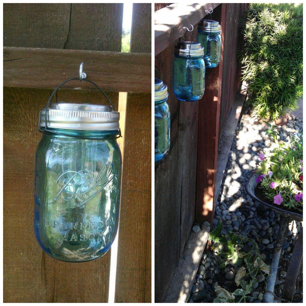 4 Hanging Solar Ed Mason Jar Led Lids Light O Ring On Off Switch Hangers